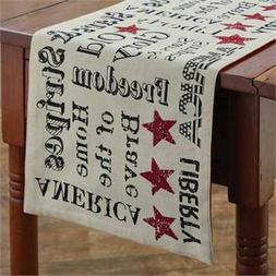 """Table Runner 36""""  - Old Glory by Park Designs - USA America"""