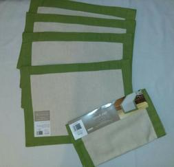 Placemats set 4 Table Runner-cotton/linen Table Top, Kitchen