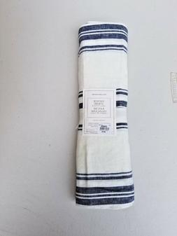 "Williams Sonoma French Stripe Table Runner 16"" x 144 Linen N"