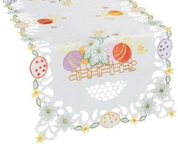 Xia Home Fashions Country Egg Embroidered Cutwork Easter Tab