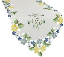 Xia Home Fashions Fancy Flowers Embroidered Cutwork Spring T