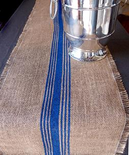 """AK-Trading 12.5"""" Inches X 108 Inches Burlap Table Runner wit"""