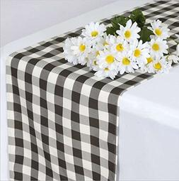 AK-Trading Polyester Gingham Checkered Table Runner, 14 by 1