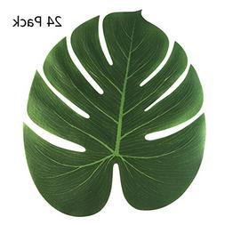 Aytai 24Pack Large Artificial Soft Tropical Palm Leaves for