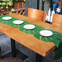 HONITURE 36pcs Artificial Tropical Palm Leaves, 13.8 by 11.4