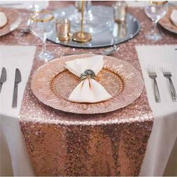 Banquet Wedding Tablecloth Sparkly Mat Glitter Cover Cloth S