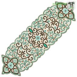 Cotton Craft - Beaded Table Runner - 13x36 Inches, Romance I