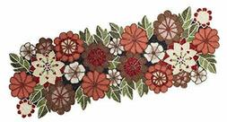 COTTON CRAFT - Beaded Table Runner - Floral Multi - 13x36 In