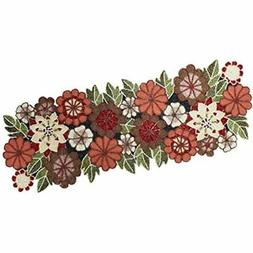 - Beaded Table Runner Floral Multi 16x54 Inches Hand Made By