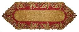 Cotton Craft - Beaded Table Runner - Seville - Red Gold - 13