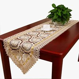 Beige Lace Table Runners And Scarves