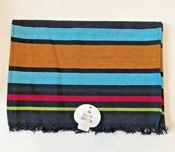 "black table runner with stripes Kitchen decor 12"" x 50""  fie"