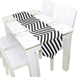 ABLINK Black Thick Stripes 100% polyester characteristic pri