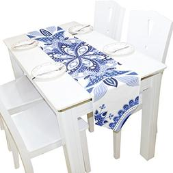 ABLINK Blue Pattern 100% polyester characteristic print doub