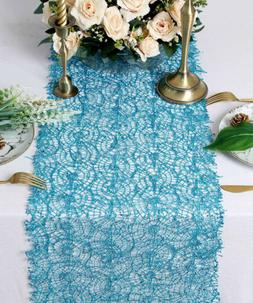 Blue Sequin Mesh Table Runner 16x120Inches Long Glitter Tabl