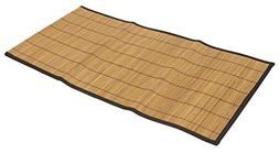Seta Direct, Brown Bamboo Slat Table Runner With Black Color