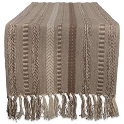 DII Braided Cotton Table Runner Perfect for Spring, Fall Hol