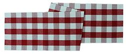"Cotton Craft Buffalo Check Cotton Table Runner - 14"" x 72"" S"