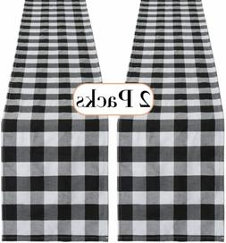 Buffalo Plaid Table Runner Cotton Table Linens 13 x 108 inch