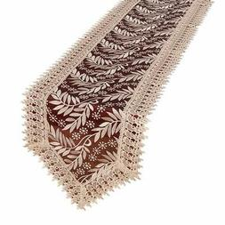 Simhomsen Burgundy Lace Table Runner And Dresser Scarf Embro