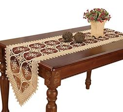 Simhomsen Burgundy Lace Table Runners And Dresser Scarves 16