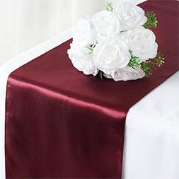 Tiger Chef 12-Pack Burgundy 12 x 108 inches Long Satin Table