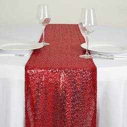Efavormart Burgundy Sequin Table Runners - Table Top Wedding