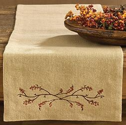 "Park Designs Burlap & Bittersweet Table Runner - 36"" L"