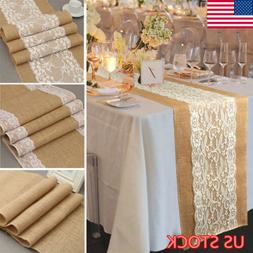 Burlap Table Runner Rectangle Tablecloth Banquet Wedding Par
