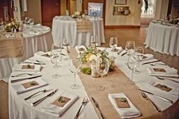 Burlap Table Runners: Rustic Weddings or Events 102x15 Inch