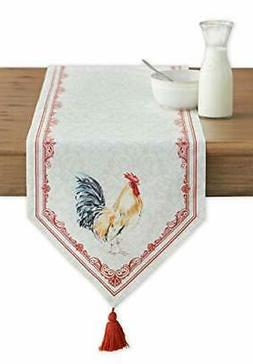 Maison d' Hermine Campagne 100% Cotton Table Runner 14.5 Inc