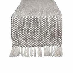 DII CAMZ11265 Braided Cotton Table Runner, Perfect for Sprin