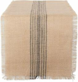 DII CAMZ38416 Mineral Middle Burlap Table Runner, 14x108, Ce