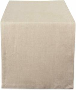 DII CAMZ38725 Natural Solid Chambray, Table Runner 14x72, Ch