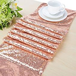 B-COOL Choose Your Sizes Rose Gold Sequin Table Runner Overl