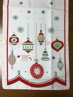 "Christmas Ornaments Vintage Style Table Runner16""X54"" Red an"