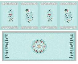 Christmas Table Runner & 4 Place Mats Panel By Lewis & Irene