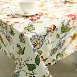 Verplim Christmas Tablecloth 100% Cotton Fabric Coat Cloth H