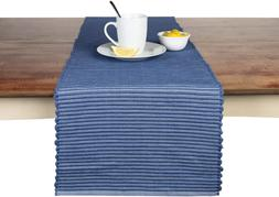 Sticky Toffee Chunky Ribbed Reversible Table Runner, 14 in x