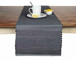 Sticky Toffee Chunky Ribbed Reversible Table Runner 14 in x