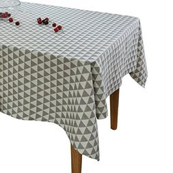 Aothpher Classic Cotton Fabric Geometric Square Tablecloth G