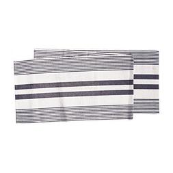 C&F Home Classic Strips, Black and White Runner, 13x72