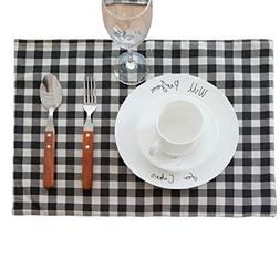 Aothpher Set of 4 Classic Washable Place Mats Geometric Line