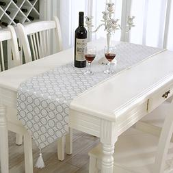 classic washable silver table runner