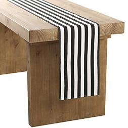 Ling's moment Classical Durable Black and White Striped Tabl