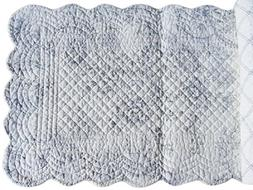 "CLEMENTINA CEMENT Quilted Reversible 51"" Table Runner by C&F"