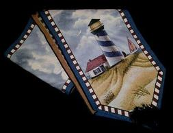 CLOTH TABLE RUNNER PLACEMATS NAPKINS HATTERAS  LIGHTHOUSE6 M