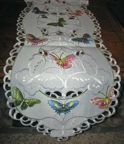 Colorful Embroidered Butterfly Easter & Spring Decor Table R