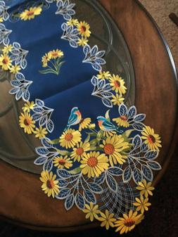 colorful sunflower decor table runner dresser scarf