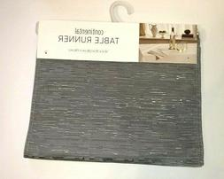 """Bardwil Continental Collection 14x70"""" Gray Table Runner Spil"""